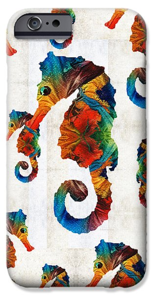 Colorful Seahorse Collage Art By Sharon Cummings IPhone 6s Case