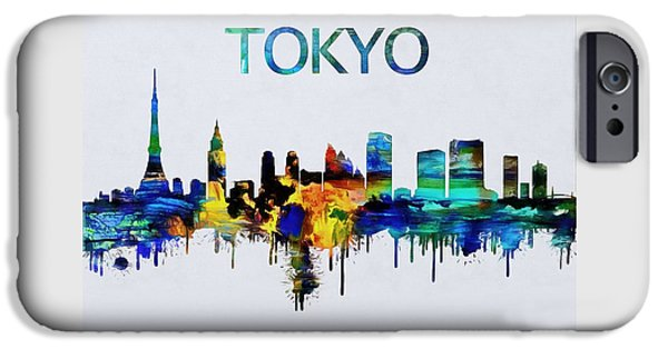 Colorful Tokyo Skyline Silhouette IPhone 6s Case by Dan Sproul