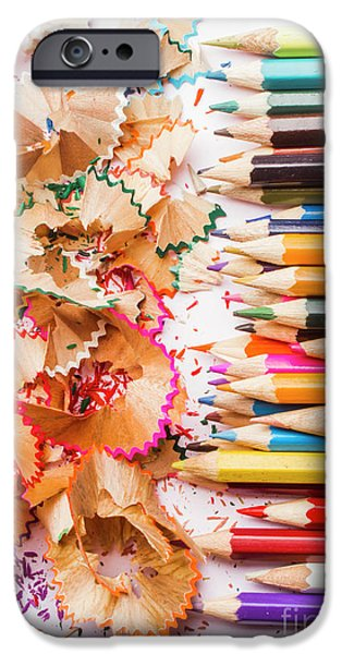 Pencil iPhone 6s Case - Colourful Leftovers by Jorgo Photography - Wall Art Gallery