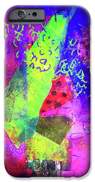 IPhone 6s Case featuring the mixed media Confetti by Nancy Merkle