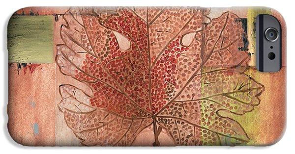 Contemporary iPhone 6s Case - Contemporary Grape Leaf by Debbie DeWitt