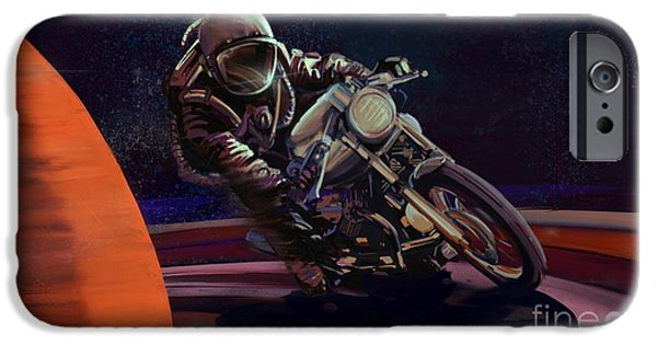 Motorcycle iPhone 6s Case - Cosmic Cafe Racer by Sassan Filsoof