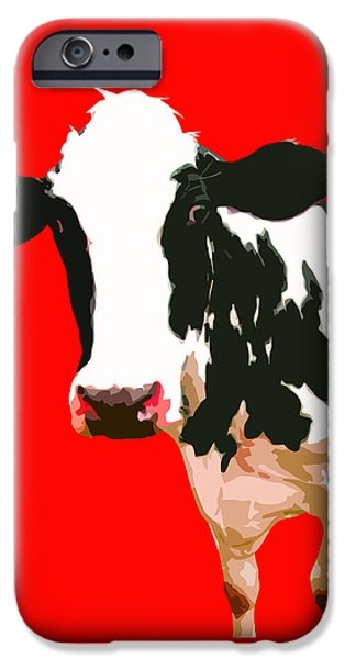 Cow iPhone 6s Case - Cow In Red World by Peter Oconor