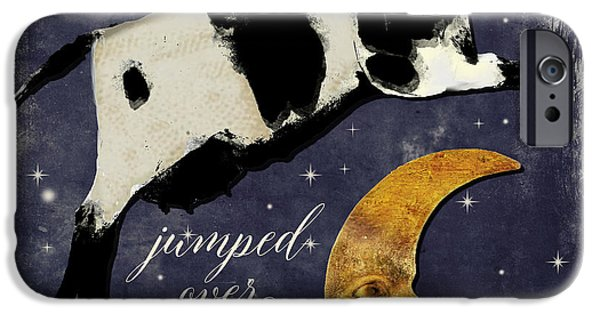 Cow iPhone 6s Case - Cow Jumped Over The Moon by Mindy Sommers