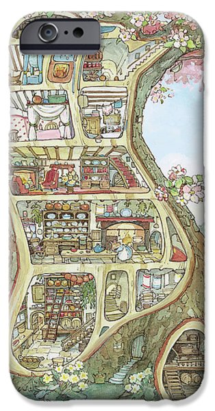 Coloured Pencil iPhone 6s Case - Crabapple Cottage by Brambly Hedge