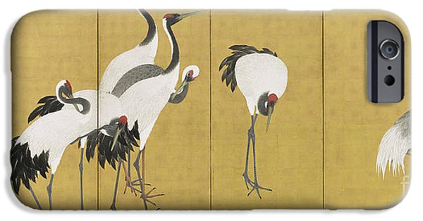 Stork iPhone 6s Case - Cranes by Maruyama Okyo