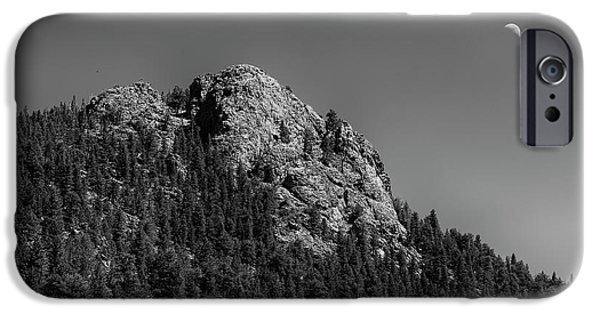 IPhone 6s Case featuring the photograph Crescent Moon And Buffalo Rock by James BO Insogna