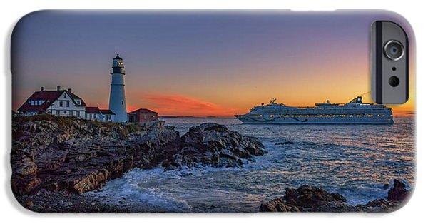 Cruise Ship iPhone 6s Case - Cruising Into Portland by Rick Berk
