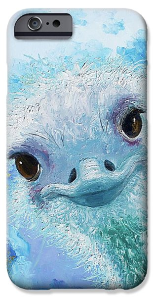 Curious Ostrich IPhone 6s Case by Jan Matson