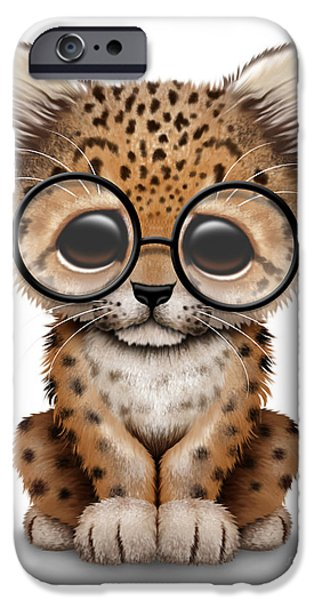 Cute Baby Leopard Cub Wearing Glasses IPhone 6s Case
