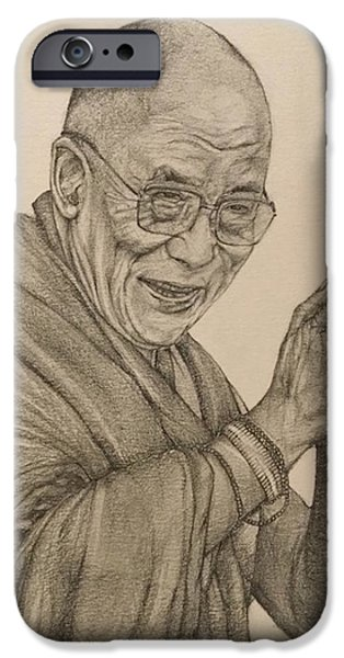 Dalai Lama Tenzin Gyatso IPhone 6s Case by Kent Chua