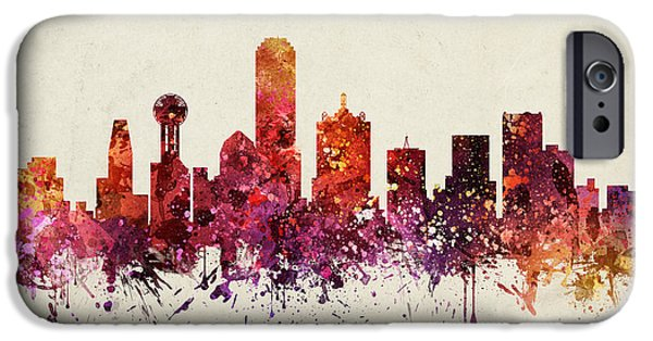 Dallas Cityscape 09 IPhone 6s Case by Aged Pixel