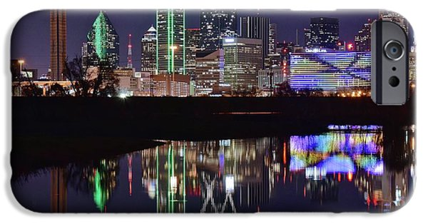 Dallas Reflecting At Night IPhone 6s Case by Frozen in Time Fine Art Photography