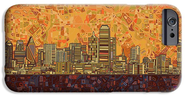 Dallas Skyline Abstract IPhone 6s Case