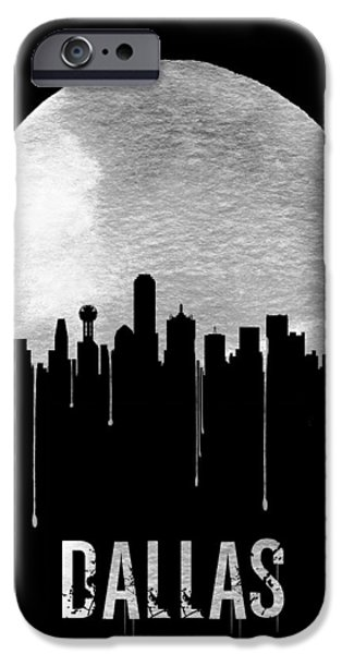 Dallas Skyline Black IPhone 6s Case by Naxart Studio