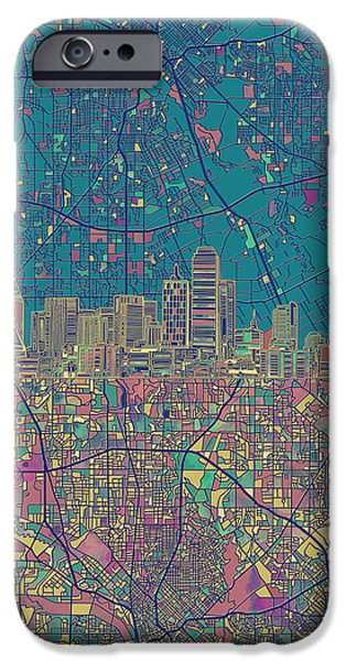 Dallas Skyline Map Green IPhone 6s Case