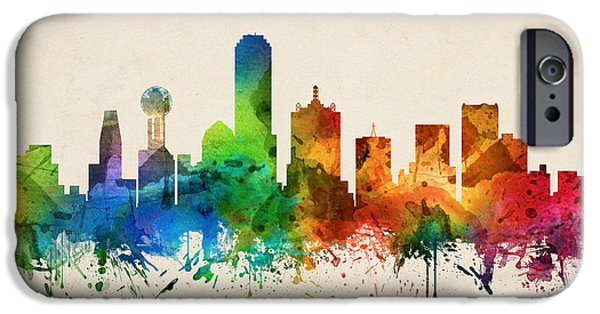 Dallas Texas Skyline 05 IPhone 6s Case by Aged Pixel