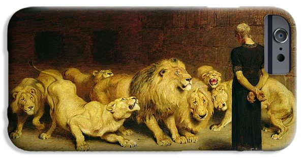 Animals iPhone 6s Case - Daniel In The Lions Den by Briton Riviere
