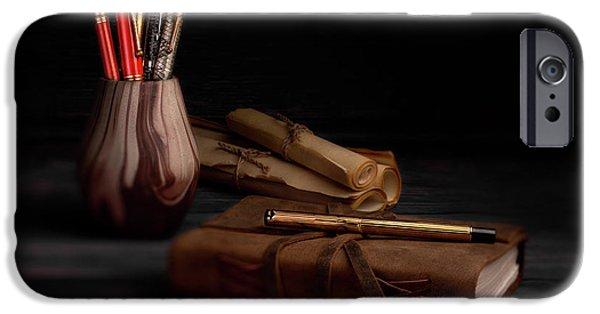 Swan iPhone 6s Case - Dear Diary by Tom Mc Nemar