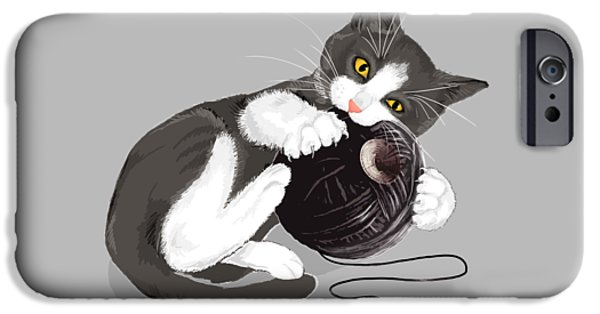 Cat iPhone 6s Case - Death Star Kitty by Olga Shvartsur