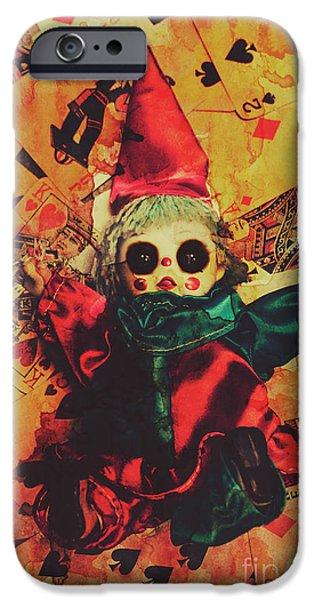 Magician iPhone 6s Case - Demonic Possessed Joker Doll by Jorgo Photography - Wall Art Gallery