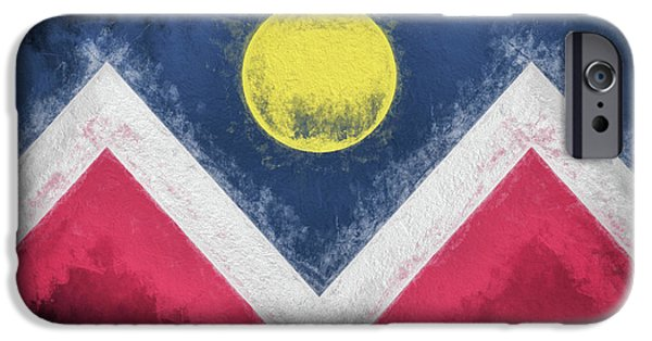 IPhone 6s Case featuring the digital art Denver Colorado City Flag by JC Findley