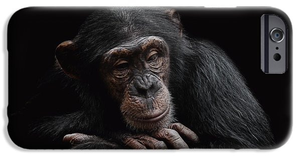 Chimpanzee iPhone 6s Case - Depression  by Paul Neville