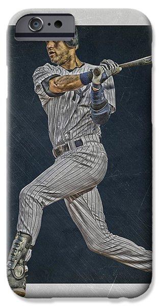 Derek Jeter New York Yankees Art 2 IPhone 6s Case by Joe Hamilton