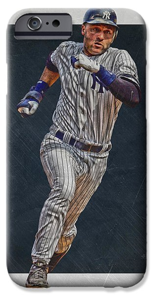 Derek Jeter New York Yankees Art 3 IPhone 6s Case by Joe Hamilton