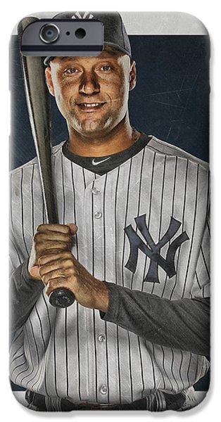 Derek Jeter New York Yankees Art IPhone 6s Case by Joe Hamilton