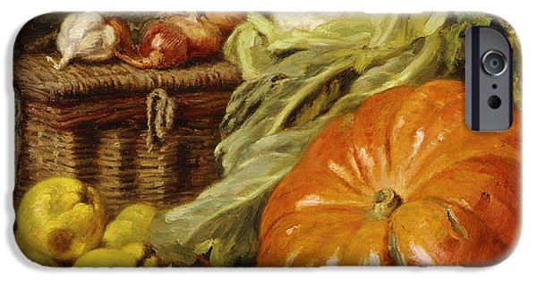 Detail Of A Still Life With A Basket, Pears, Onions, Cauliflowers, Cabbages, Garlic And A Pumpkin IPhone 6s Case by Eugene Claude