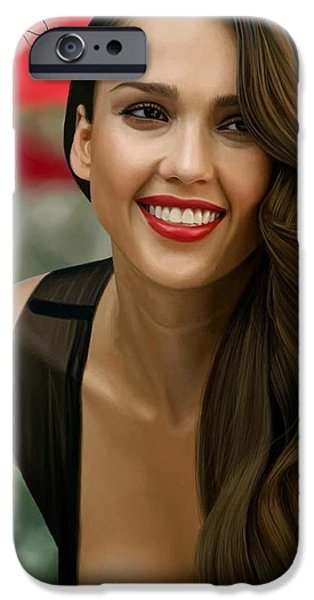 Digital Painting Of Jessica Alba IPhone 6s Case by Frohlich Regian