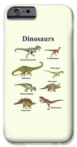 Dinosaurs Montage - Portrait IPhone 6s Case