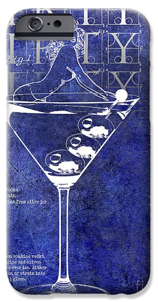 Dirty Dirty Martini Patent Blue IPhone 6s Case by Jon Neidert
