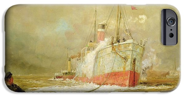 Boat iPhone 6s Case - Docking A Cargo Ship by William Lionel Wyllie