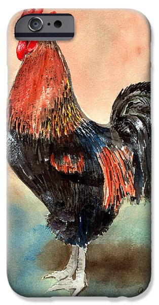 Rooster iPhone 6s Case - Doodle by Arline Wagner
