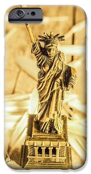 Statue Of Liberty iPhone 6s Case - Dove Feathers And American Landmarks by Jorgo Photography - Wall Art Gallery