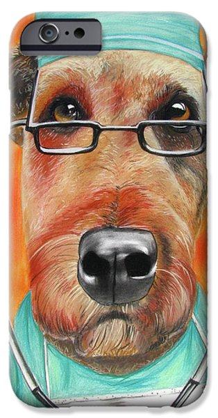 Dr. Dog IPhone Case by Michelle Hayden-Marsan