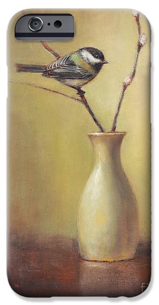 Chickadee iPhone 6s Case - Early Spring Still Life by Lori McNee