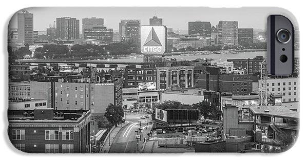 Harvard iPhone 6s Case - East Cambrdige Boston Skyline Aerial Citgo Sign Photo by Paul Velgos
