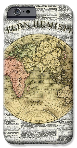 Eastern Hemisphere Earth Map Over Dictionary Page IPhone 6s Case by Jacob Kuch