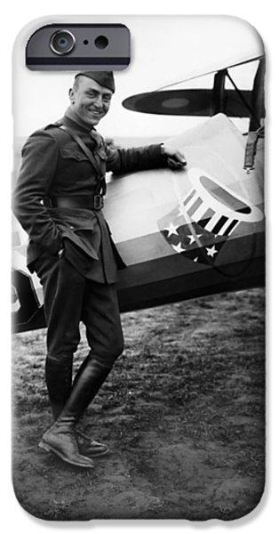 Airplane iPhone 6s Case - Eddie Rickenbacker - Ww1 American Air Ace by War Is Hell Store