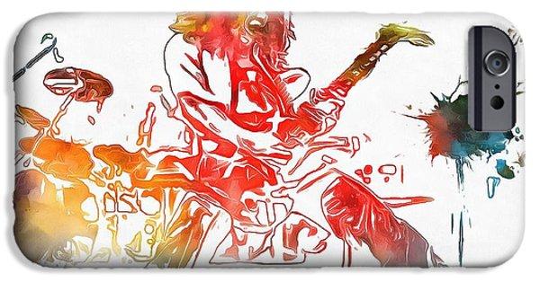 Eddie Van Halen Paint Splatter IPhone 6s Case by Dan Sproul