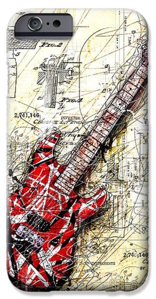 Guitar iPhone 6s Case - Eddie's Guitar 3 by Gary Bodnar