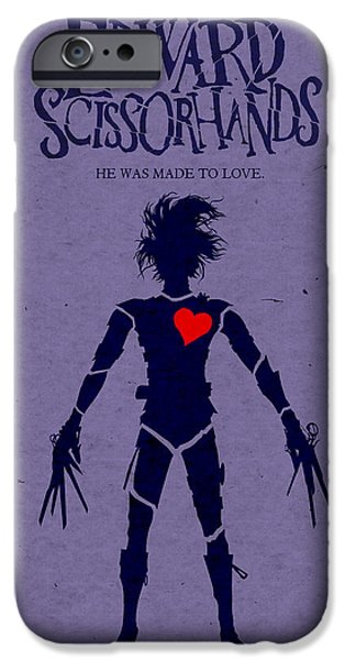 Edward Scissorhands Alternative Poster IPhone 6s Case by Christopher Ables