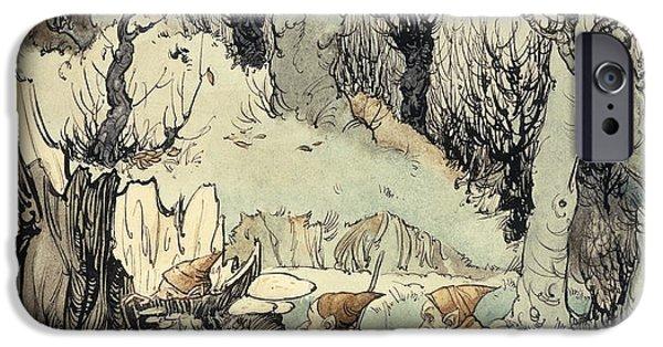 Elves In A Wood IPhone 6s Case by Arthur Rackham