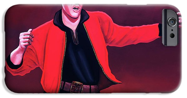 Rock And Roll iPhone 6s Case - Elvis Presley 4 Painting by Paul Meijering