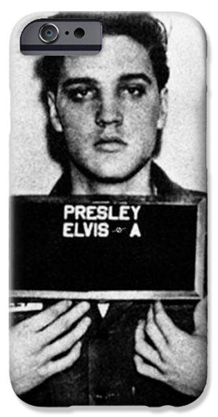 Elvis Presley iPhone 6s Case - Elvis Presley Mug Shot Vertical 1 by Tony Rubino