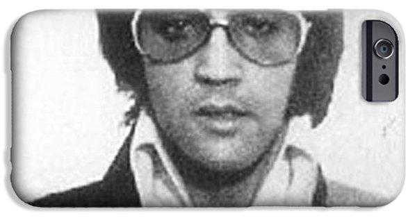 Elvis Presley iPhone 6s Case - Elvis Presley Mug Shot Vertical by Tony Rubino