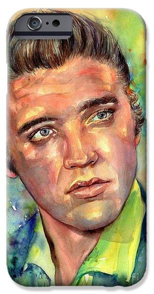 Elvis Presley iPhone 6s Case - Elvis Presley Watercolor by Suzann's Art